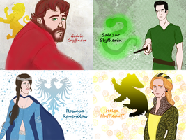 The Young Founders of Hogwarts by bltshop