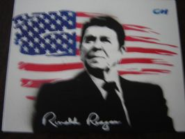 Ronald Reagan by Stencils-by-Chase