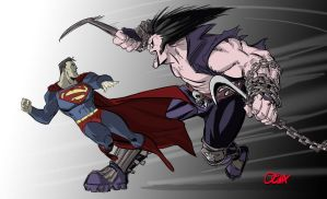 Lobo Vs Superman by AZNbebop