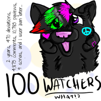 100 WATCHERS? Here have an old Slash by foxyko
