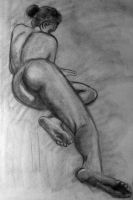 Figure Drawing 03/2012 Foreshortening by ArshnessDreaming