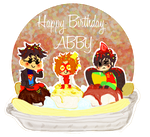 Banana split birthday by CrimsonEscapist