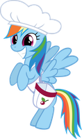 Happy Rainbow Dash in chef's hat by CrusierPL