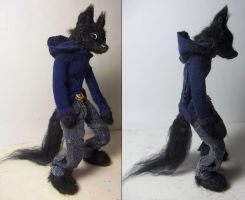 Anthro Wolf Stop Motion Puppet by RaiynClowd