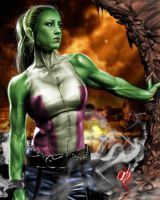 She Hulk 1 by BornTewSlow