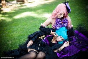 Miku and Luka - Sandplay singing of the dragon by altugisler