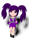 Violet Chibi Model Finish: One Simple Pose by kaisaki1342