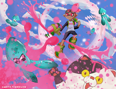 Splatoon Get Inked Contest Entry by Caseth