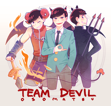 Osomatsu-san - Team Devil by Meoon