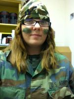 Again, Camo at school in the Band hall. by Diblet