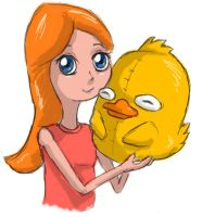 Phineas and Ferb: Candace and Ducky Momo by eagleskyflyer
