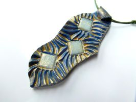 BLUE MOSAIC PENDANT by MassoGeppetto