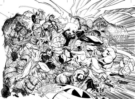 Marvel Comics Presents Inks by J-Scott-Campbell