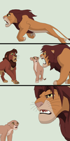 Animation Comic Base 1~Lion Fight 1~ by Xbox-DS-Gameboy