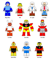 LEGO Mega Man characters by Gamekirby