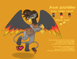 Ace Strider Reference Sheet NEW by TechTalkPony
