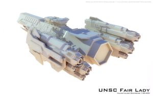 UNSC Destroyer Sneak Peak by fongsaunder