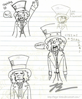 Hatter Sharpie Doodles by Vega-Three