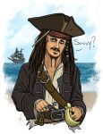 Captain Jack Sparrow by SumtimesIplaytheFool