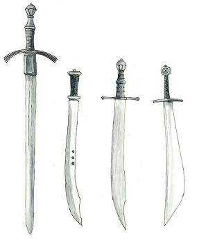 longsword and falchions by Kluwe