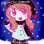 Christmas Doodle I KNOW IM LATE IM SORRY by Peach-X-Yoshi