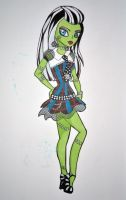 Monster High: Frankie Stein Colour by Mischief-Moose