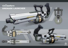 Cross-Fate - Grenade Launcher Concept Art by davislim