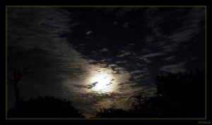Moon and Clouds by Pinkatron2000