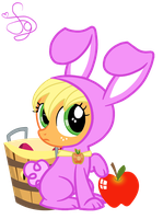 AppleJack Rabbit by KristieSparcle