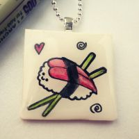 Sushi Pendant by cellsdividing