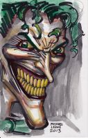 Joker Sketch 9-8-2013 by myconius
