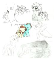 MLP Sketch Dump! by randomawesomechick
