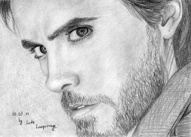 His eyes... Jared Leto by LadaLamperouge