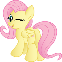 Fluttershy being Cute (Vector) by drawponies