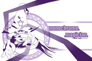 monochrome.magician. by infernoangel