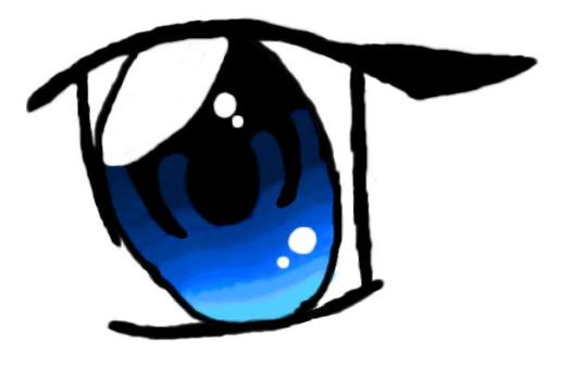 Anime Eye Colored Blue by YamishiNeko