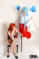Mikami and Okinu ~ Ghost Sweeper Mikami by azuldna