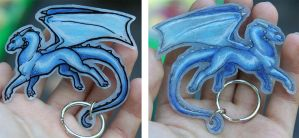 Blue Dragon Keychain by Nylak