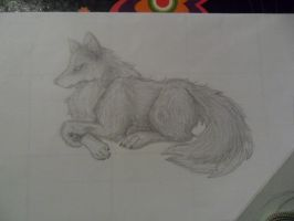 Pencil Wolf by artilestial