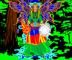 Lady Gaia (Mother Earth)... by AngelGhidorah