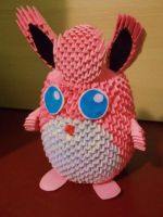 3D Origami Wigglytuff by OneLoneTree