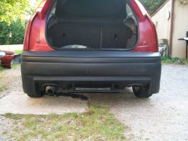 Ford Focus Zx3 back bumper mounted by blackout17