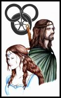 The Aes Sedai and her Gaidin by Black-lotus12