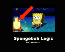 Spongebob Fire by 01MinecraftFan