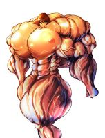 Huge Muscle Girl2 by S20K00Y