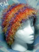 Whispy Neon Rainbow Hat by SmilingMoonCreations