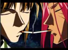 Sanzo and Gojyo by Loveordead01
