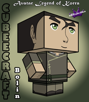 3D cubeecraft view of Bolin Legend of Korra by SKGaleana