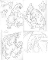 Kaiju Concepts by KillustrationStudios