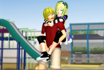 [MMD] Tate and Lillianne-Brother and sister by chibicookie602